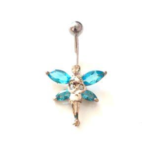 Σκουλαρίκι ομφαλού αγγελάκι μπλε